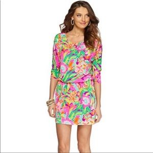 Lilly Pulitzer Pink Flamingo Cara Dress Sz XS